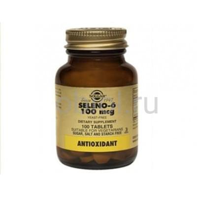 Solgar / Селен 6 100 мкг 100 таблеток