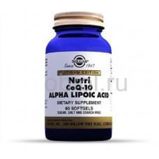 Нутрикоэнзим Q-10 с альфа-липоевой кислотой 60 капсул