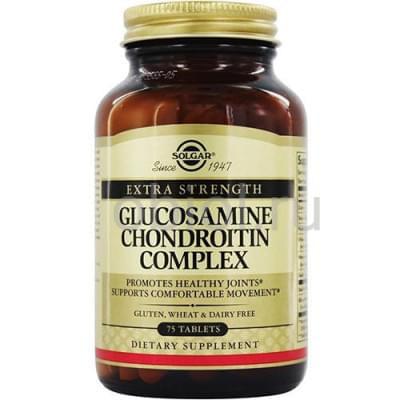Solgar / Глюкозамин-Хондроитин, для улучшения функционирования суставов и восстанавлению хрящей 75 таблеток