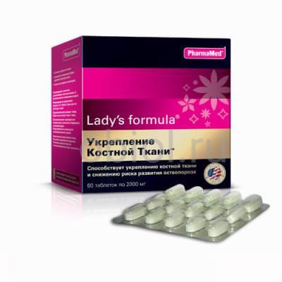 """Lady's Formula / """"Для укрепления костной ткани"""" таблетки 2г №60"""