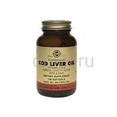 Витамины А и D, в жире из печени норвежской трески 100 капсул