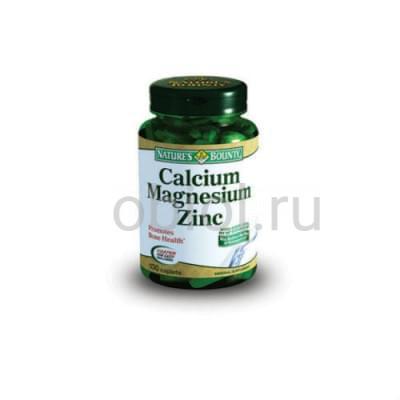 Nature`s Bounty / Кальций-Магний-Цинк 100 таблеток