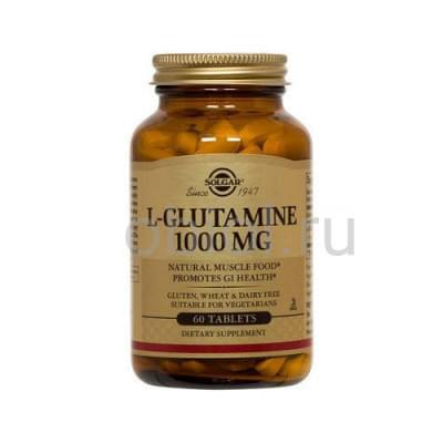 Solgar / Таблетки L- Глутамин №60 1000 мг
