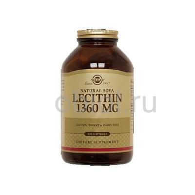 Solgar / Натуральный соевый лецитин 100 капсул