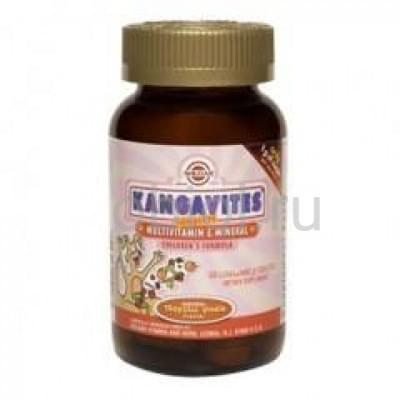 Solgar / Кангавитес с мультивитаминами и минералами со вкусом тропических фруктов жев. таб. №60