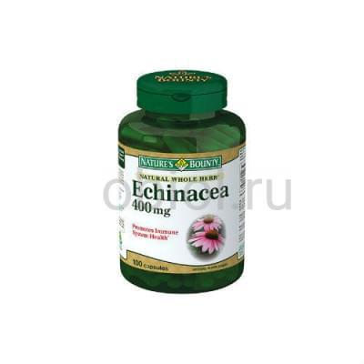 Nature`s Bounty / Натуральная Эхинацея 400 мг 100 капсул