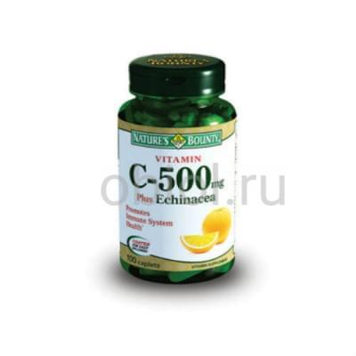 Nature`s Bounty / Витамин С 500 мг плюс Эхинацея 100 таблеток