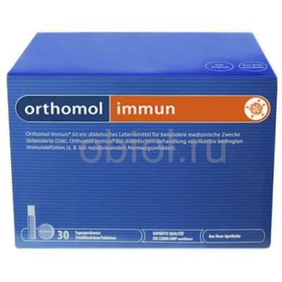 Orthomol / Immun 30 питьевых бутылочек по 20 мл + таблетки 500 мг №30