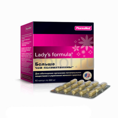 """Lady's Formula / """"Больше чем поливитамины"""" капсулы 880 мг №60"""
