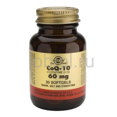 Solgar / Коэнзим Q-10 60 капсул