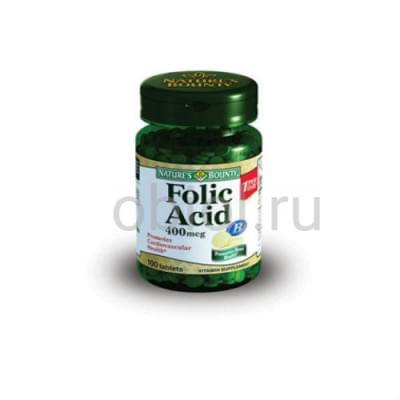 Nature`s Bounty / Фолиевая кислота 400 мкг 100 таблеток