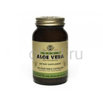 Solgar / Алое Вера, укрепляет иммунитет и заживляет язвы желудочно-кишечного тракта 100 капсул