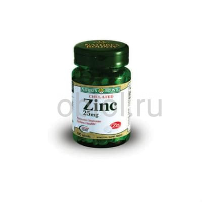 Nature`s Bounty / Хелат Цинка 25 мг 100 таблеток