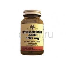 Гиалуроновая кислота для профилактики возрастных изменений кожи, хрящей и суставов 120 мг, 30 табл