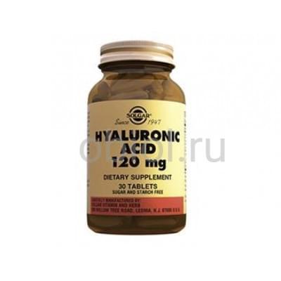 Solgar / Гиалуроновая кислота для профилактики возрастных изменений кожи, хрящей и суставов 120 мг, 30 табл