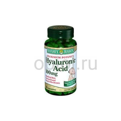Nature`s Bounty / Гиалуроновая кислота 100 мг 30 капсул