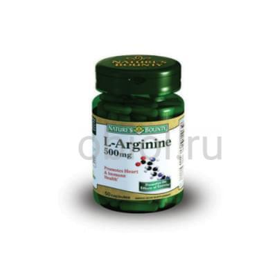 Nature`s Bounty / L-аргинин 500 мг 50 капсул
