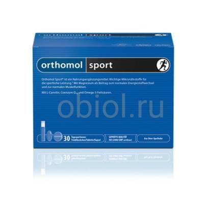 Orthomol / Sport Витаминный комплекс 30 таблеток + 30 капсул (omega-3) + 30 питьевых бутылочек по 20 мл
