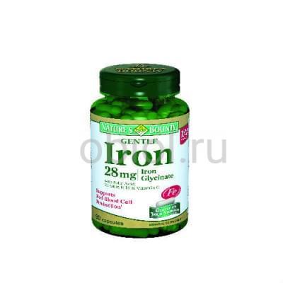 Nature`s Bounty / Легкодоступное железо 28 мг 90 капсул