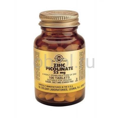Solgar / Пиколинат цинка 100 таблеток