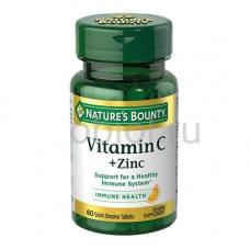 Витамин С плюс цинк таб. Растворимые, 750 мг, №60 (БАД)