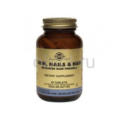 Solgar / Комплекс витаминов, минералов и аминокислот для кожи, волос и ногтей 60 таблеток