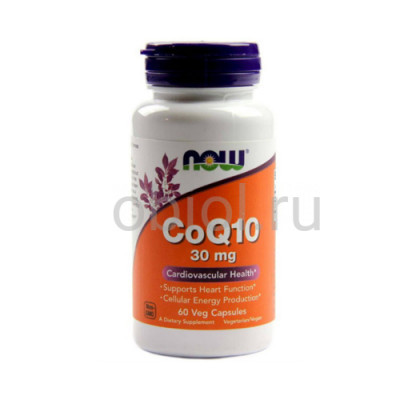 Now Foods / Кофермент Q10, 30 мг, 60 капсул