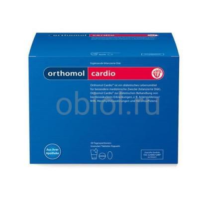Orthomol / Cardio Витаминный комплекс 90 капсул, 30 пакетиков с порошком и 60 таблеток №30