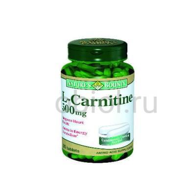 Nature`s Bounty / L-карнитин 500 мг 30 таблеток