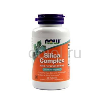 Now Foods / Кремниевый комплекс 1230 мг, 90 таблеток