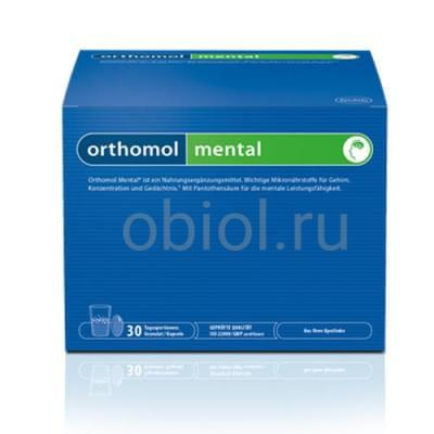 Orthomol / Mental Витаминный комплекс порошок + капсулы №30